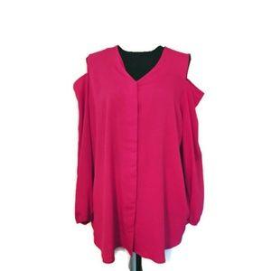 Chico's cold shoulder blouse L